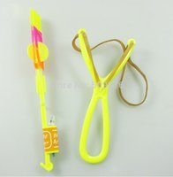 arrow making supplies - make LOGO red blue light LED FireFly Amazing Arrow Helicopter Slingshot Deluxe Model Night Toy