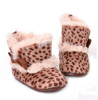 Wholesale Manufacturers direct sales new fashion baby girls winter Leopard warm boots baby shoes first walkers wholesales