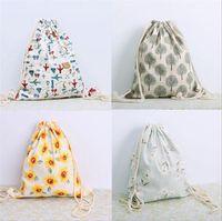 Wholesale 2016 hot women s fashion casual bags drawstring bag Shengbu petal pattern drawn back beam port backpack