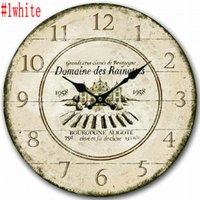 Wholesale Creative European Retro Living Room Wood Digital Wall Clock Home Decoration