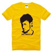 barcelona neymar - WISHCART with Football Barcelona Neymar Printed Men s T Shirt Men s New Short Sleeve O Neck Cotton Casual Top Tee Hombr