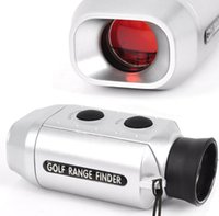 Wholesale 7X Zoom Digital Golf Range Finder Golfscope Scope Yards Measure Distancer with Padded Case for Golfers TB Sale