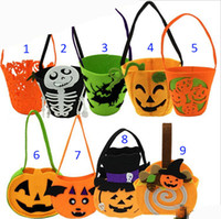 Wholesale Children Halloween Xmas pumpkin ghost bags new style boy girl cute party pumpkin halloween Candy Bag Non woven gift bags B