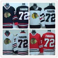 100% Stitched 2016 Chicago Blackhawks Stadium Série # 72 ARTEMI PANARIN Blanc Rouge Accueil Noir Premier Hockey sur glace Jersey CB072