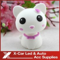 Wholesale 5 Colors Mini Cat Ornaments Car Adornment Decoration Auto Furnishing Articles With Automatic Swing Car Accessories
