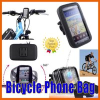 batteries mounting bicycle - Bike Bicycle Motorcycle Waterproof iPhone s Phone Case bag with Handlebar Mount Holder for Samsung S7 HTC HUAWEI LG