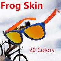 Wholesale 20pcs Brand Designer Frogskin Sunglasses Cycling Sunglasses for Women Mens Unisex Retro UV400 Eyeglasses for Mountain Bike hiking GSA004