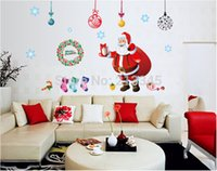 Wholesale Diy Wall Stickers Home Decor Holiday Gift Merry Christmas Santa Murals Decal Removable Top Quality Waterproof