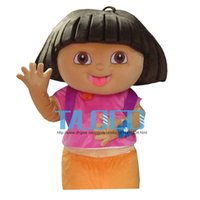 Wholesale New Explorer Girl Dora Mascot Costume Fancy Dress Outfit Adult