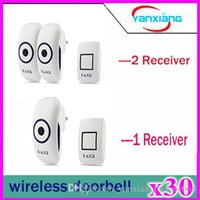 Wholesale 30pcs Multifunctional Wireless Doorbell with Emitter and Receivers with ft Operating Range with LED Light YX ML