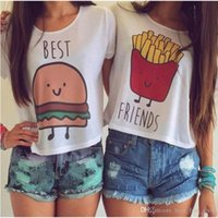 best womens t shirts - 2015 New Woman Fashion Easy Printing off shoulder T womens shirts tee Pity Best Friend Goods In Stock S XL blouses women