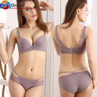Bra Sets sexy polyester Women Sexy Seamless Bra and Panties Set Lace Push Up Bras Panties One Piece Underwear Women's Lingerie Set