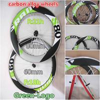 best alloy wheels - Best selling Green logo Sram Front S60 mm Rear S80 mm carbon alloy wheels Made in China alloy wheels bike wheels clincher