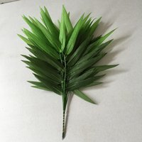 artificial bamboo trees - 37cm cm High Simulation Bamboo Leaves Plastic Bamboo Branches Sprig Insert Tree Secoration Waterproof Sunscreen Each One leaves