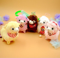 arpakasso plush - 5Pcs cm Charming Japan Amuse Plush Heart Love Alpacasso Arpakasso Alpaca Pendant Sheep Soft Doll Toys