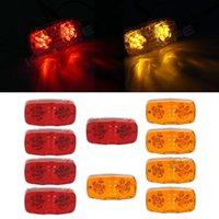 Wholesale 10x Red Amber quot x quot Rectangular Bull Eye Side Marker Clerance Light Diode