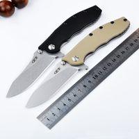 Wholesale 2016 New zero tolerance knives ZT0562 tactical folding knife G10 camping hunting knife D2 blade knives ball bearing Flipper EDC Tools