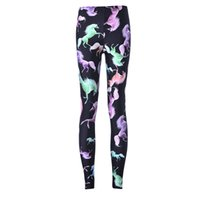 sexy cartoon girl - NEW Arrival Sexy Girl Women Cartoon Rainbow unicorn Pegasus D Prints Running Elastic GYM Fitness Sport Leggings Yoga Pants