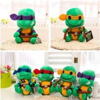battery operated tv - 1pcs quot cm Cute TMNT Teenage Mutant Ninja Turtles Plush Toys Movies TV Toys Hobbies Best Christmas Plush Toys Dolls Gift