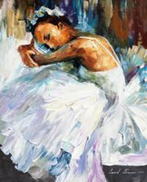ballerina oil painting - Leonid Afremov PALETTE KNIFE art home decorative abstract oil painting on canvas Ballerina x36inch Unframed