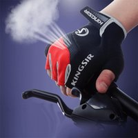 finger bike - 1 Pair Outdoor Sport Gloves Summer Cycling Bike Bicycle Riding Gym Fitness Half Finger Gloves Shockproof Mittens S M L XL XXL