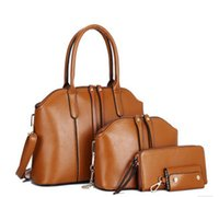 Wholesale Korean Set Phone - high quality 2016 Korean trend hobo bag shoulder bag composite bag 4 pcs set woman lady designer fashion purse handbag