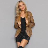 basic motorcycle - Suede Jacket Coat Motorcycle Leather Jacket Women Basic Outwear Clothing Female Khaki Belted Short Winter Fashion Jackets