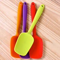 Wholesale New Silicone Mixing Spoon Utensil Cake Putty Spatula Bakeware Home Tableware