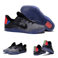 badminton tv - High Quality Hot Sale Kobe XI TV Wolf Cool Grey BLACK Men Basketball Sport Sneakers Shoes