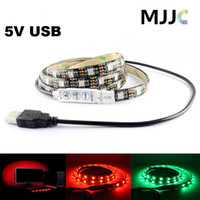 background cool - 5V USB RGB LED Strip Light Waterproof M M M SMD Black PCB PC TV Background Under Cabinet Lighting Mini RGB Controller