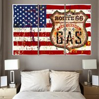american flag decor - 3 Piece Wall Art Painting American Flag In Red White And Blue Picture Print On Canvas Art The Picture Home Decor Oil Prints