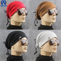 Beanie/Skull Cap adjustable iron golf - Fashion Men and Women Wrap Caps Skullies Beanies with Iron Hoop Hat Cap Drop Shipping MZ0022