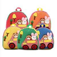 baby boy rucksack - 2016 New Cute Kids School backpack Cartoon Animal backpack Canvas bookbag Mini Baby Toddler school Bag Kindergarten Rucksacks