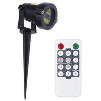 Wholesale US UK EU Plug Outdoor Waterproof IP65 Christmas Lawn Decorative Lamps Red and Green Laser Light Projector Remote Control CPD S