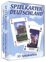 Wholesale collective German scenery poker cards male landscape playing card as novelty present