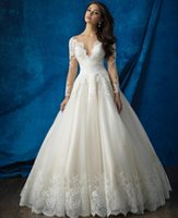 Wholesale Custom Made A Line Wedding Dress See Through Beaded Back Sexy Wedding Dress julie vino Bridal Gown
