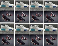athetic shoes - Hot sell Nice kicks NMD_R1 W Bl Runner mens shoes outdoor Men sports athetic footwear