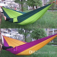 Wholesale Portable Parachute Camping Outdoor Double person HAMMOCK very soft CM Max Loading KG