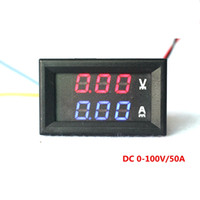Wholesale DC V A Digital Ammeter Voltmeter in Digital Voltage Amp Volt Meter Red Blue LED Dual Color Display
