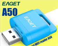 Wholesale Free DHL EAGET A50 Wifi Wirless Card Reader for Micro SD SDHC TF Flash Wireless Storage for iOS Android Device