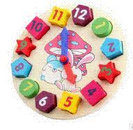 juguete juguetes educativos bloques de construcción de juguete androide de la almohadilla de la almohadilla del juguete de madera del juguete digital Geometría Reloj Niños