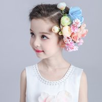Wholesale Colorfully Hair Jewelry Wedding CombBridesmaid Accessories Flower Girls Dancing Party Prom Special Occasion Head Wreaths Holy Communion