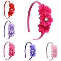 Wholesale New Arrivals C Fashion Cute Flowers with Gemstone Baby Girls Hairbands Children s Hair Accessories Girls Hair Sticks
