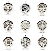 Wholesale High Quality mm Round Diffuser Locket Necklaces L Stainless Steel Aromatherapy Pendants Jewelry Styles WS702