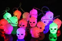 bar curtains - Halloween Light LED m Home Bar Party Decoration LED String Light Fairy lights Festival Lamp Skeleton lantern lamp