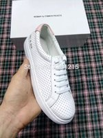 band projects - 2016 New COMMON PROJECTS Spring Autumn fashion brand shoes colors breathable genuine Leather shoes flat casual shoes hot sale