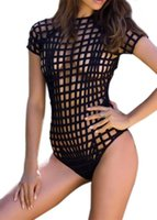 Wholesale New One Piece Women Mesh Cut Out Sexy Triangle Mesh Swimsuit Swimwear Beachwear QJ