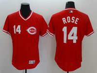 Wholesale Rose Cincinnati Reds Majestic FLEXBASE Collection Player Jerseys white grey blue red green MIX ORDER sunnee