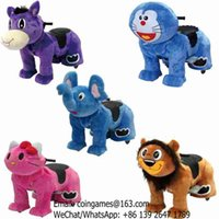 Wholesale 5pcs pack Children Adults Electric Coin Operated Plush Stuffed Walking Animal Rides On Toys
