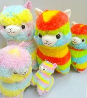 alpaca stuffed animals - 2016 New Rainbow Alpaca Plush Toy Japanese Soft Plush Alpacasso Baby Plush Stuffed Animals Alpaca Gifts cm cm